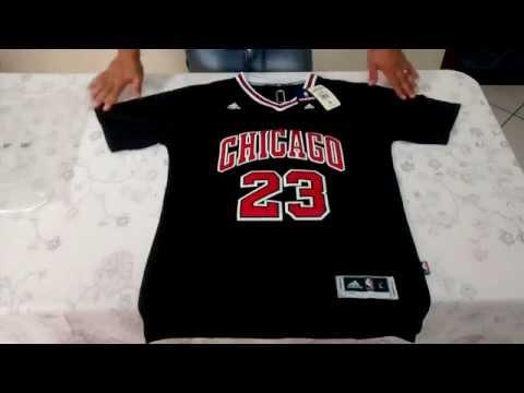 camiseta jordan bulls negra