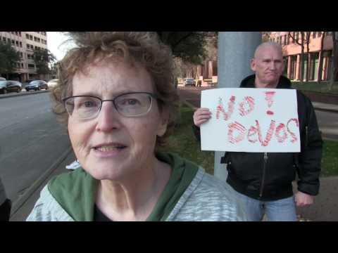 Confronting Cornyn to Deny DeVos in Dallas