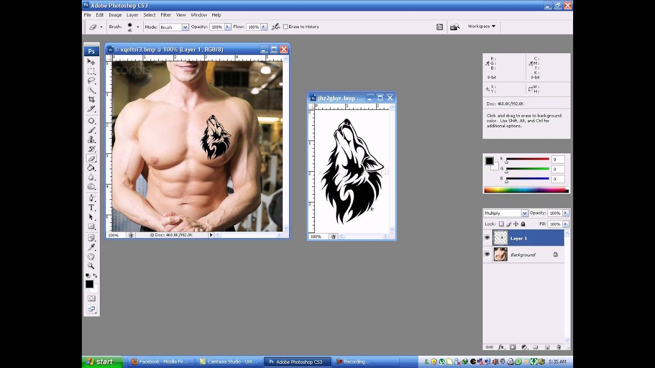 How To Add A Realistic Tattoo To a Person With Photoshop