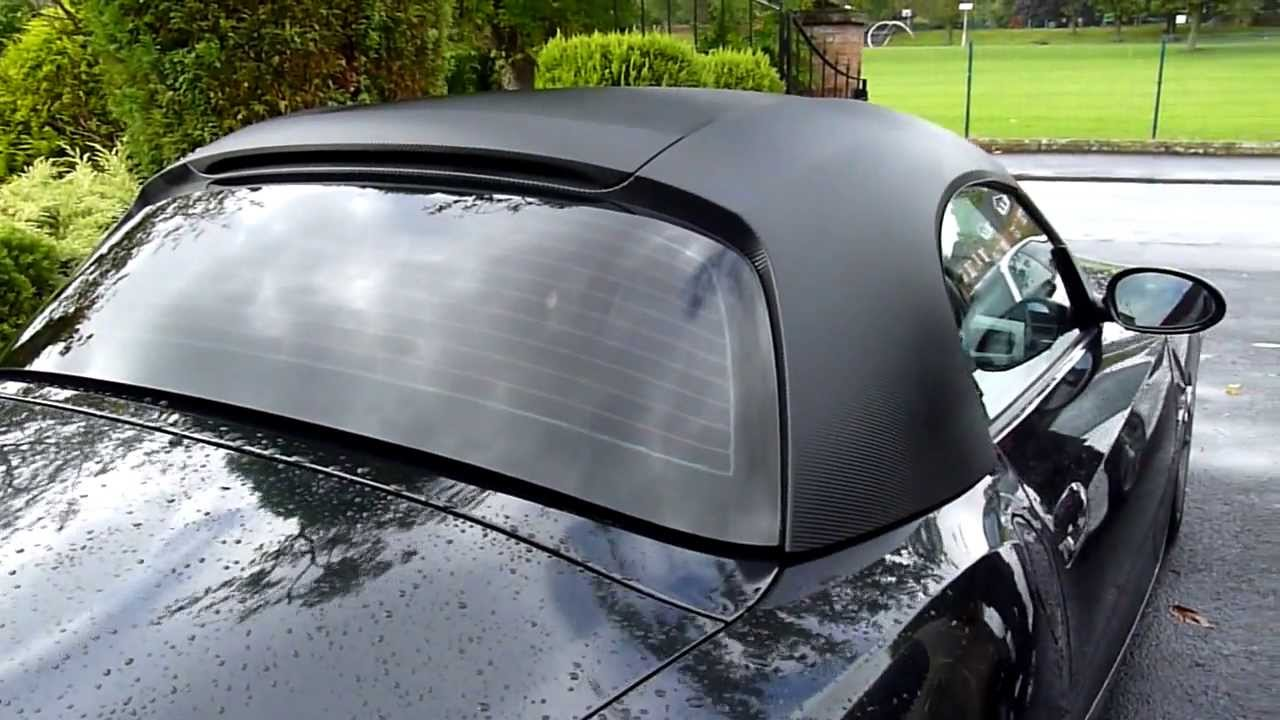 Bmw Z4 Hardtop Carbon Wrapped 1 Piece Perfectautocarbon Co Uk Manchester Vehicle Wrapping Youtube
