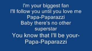 Lady GaGa - Paparazzi Acoustic Lyrics