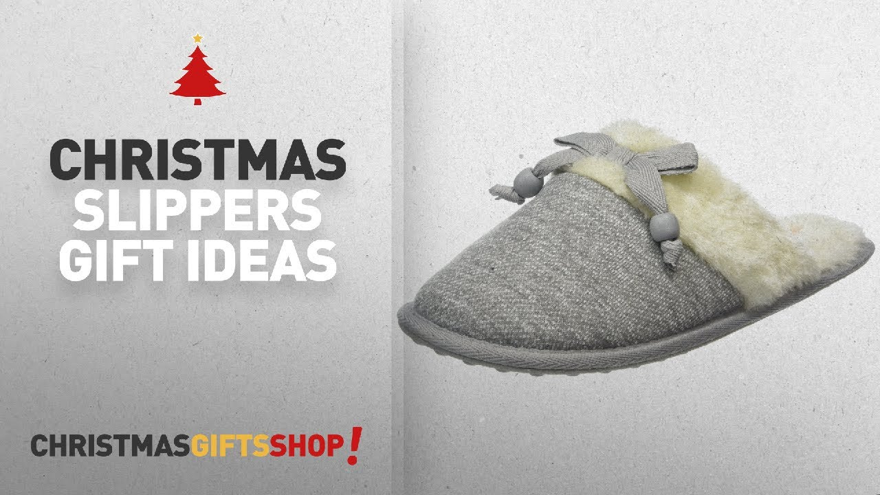christmas women slippers gifts ideas rocket dog womens silvia open back slippers grey trails