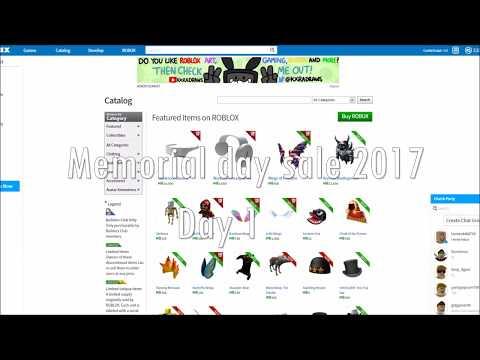 ROBLOX Memorial day sale 2017