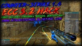 ECC 5.2 - Counter-Strike 1.6 Hack (Aimbot, WallHack, Speed, NoRecoil, BunnyHop) [2018]