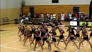 Cheerleaders dancing to low - flo rida