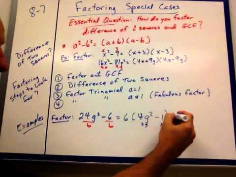 factoring special cases worksheet pdf