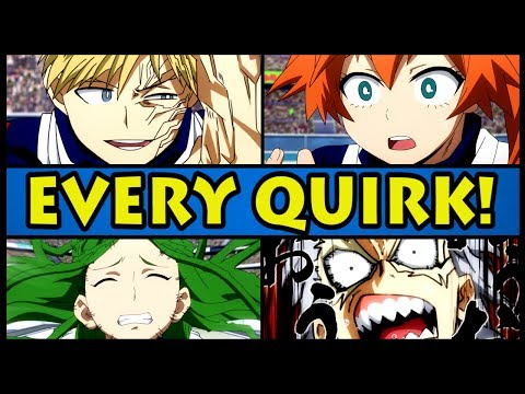 EVERY QUIRK EXPLAINED!   Class 1-B (My Hero Academia / Boku No Hero Academia All Quirks)