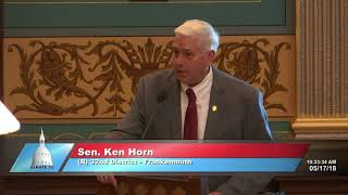 Sen. Horn speaks in support of HICA reforms