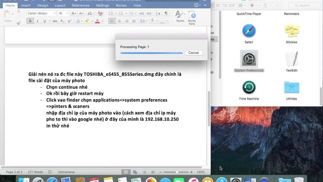HƯỚNG DẪN CÀI ĐẶT MÁY IN QUA MẠNG LAN CHO MAC OS X PHẦN 3