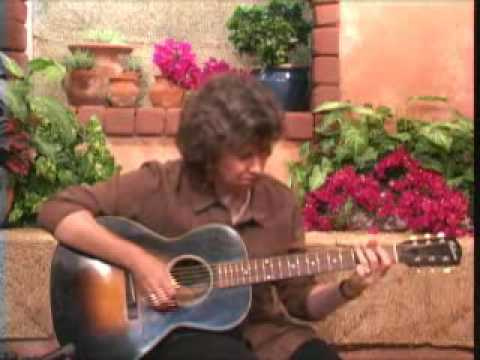 Mary Flower Playing Rag Time Blues Guitar