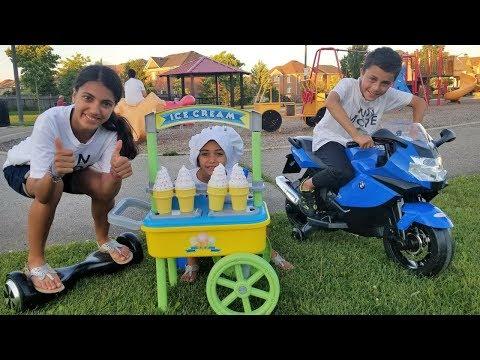 Ice Cream Cart Toys at the Park Hzhtube Kids Fun