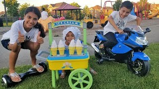 Ice Cream Cart Toys Kids Pretend Play at the Park