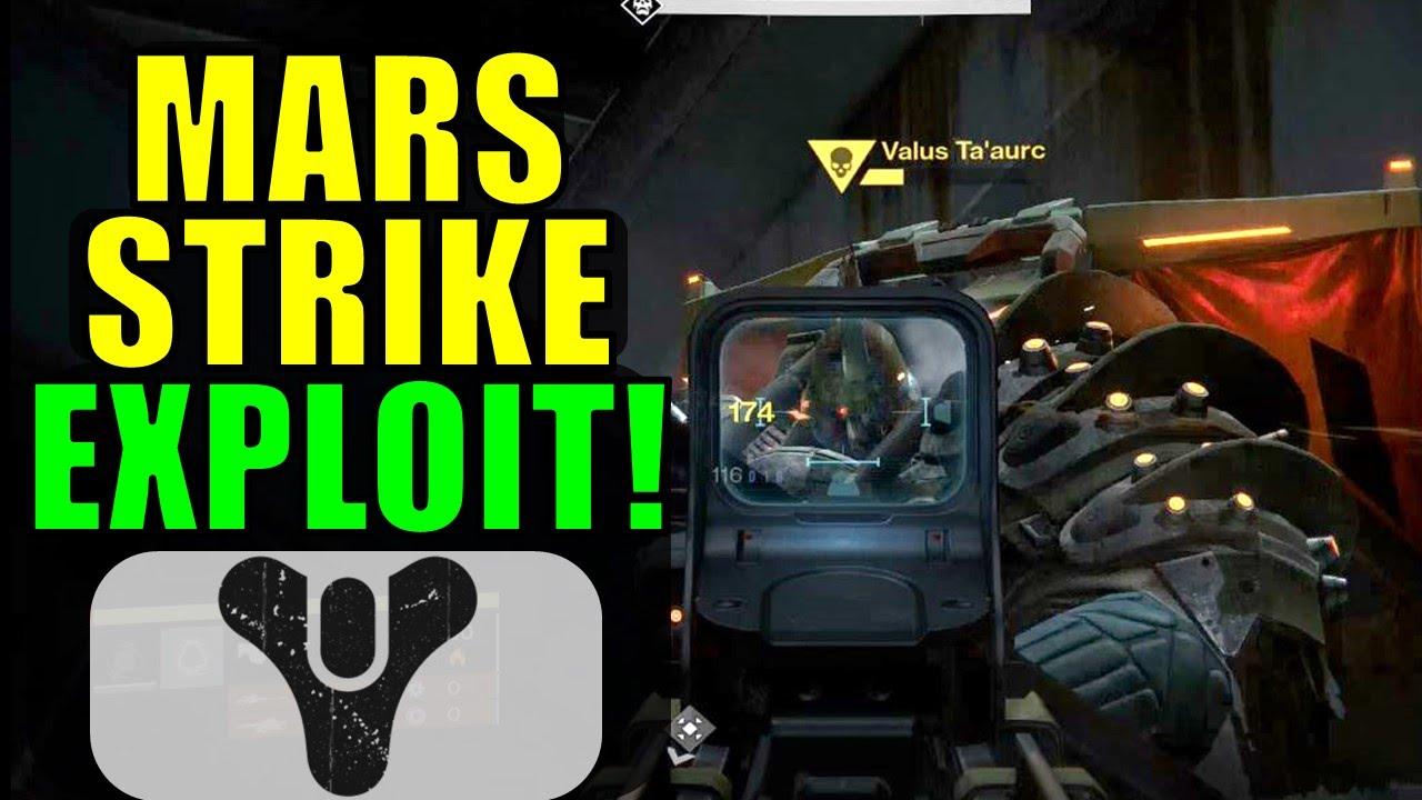 Destiny: Cerberus Vae III (Mars) Strike Boss Exploit ...