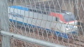 화물열차 증평역인근 통과
