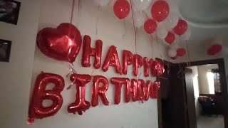 Birthday Decoration At Home   Surprise Birthday decoration at home  Birthday Decoration