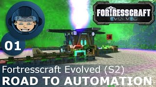 ROAD TO AUTOMATION - Fortresscraft Evolved: Ep. #1 - Gameplay & Walkthrough (S2)