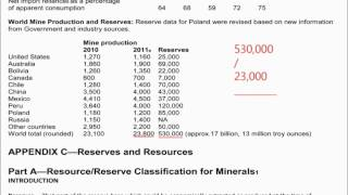 USGS 2012 Silver Mineral Commodity Summary could support silver shortage by 2035