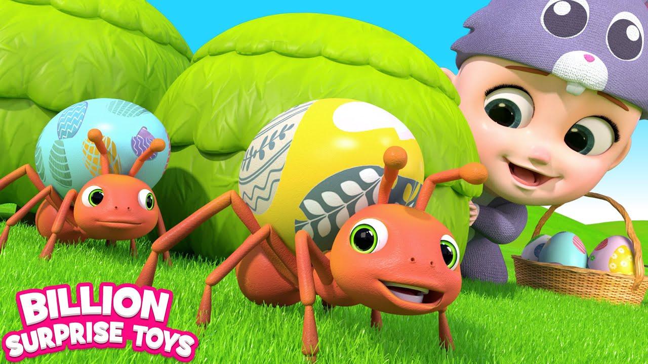 Easter Bunny & Surprise Eggs Song | BillionSurpriseToys Nursery Rhymes & Kids Songs