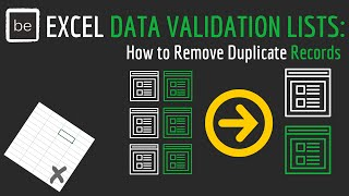 Dynamic Excel Data Validation Lists: How to Remove Duplicate Records