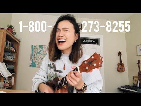 1-800-273-8255 by logic  (uke + lyric video!)