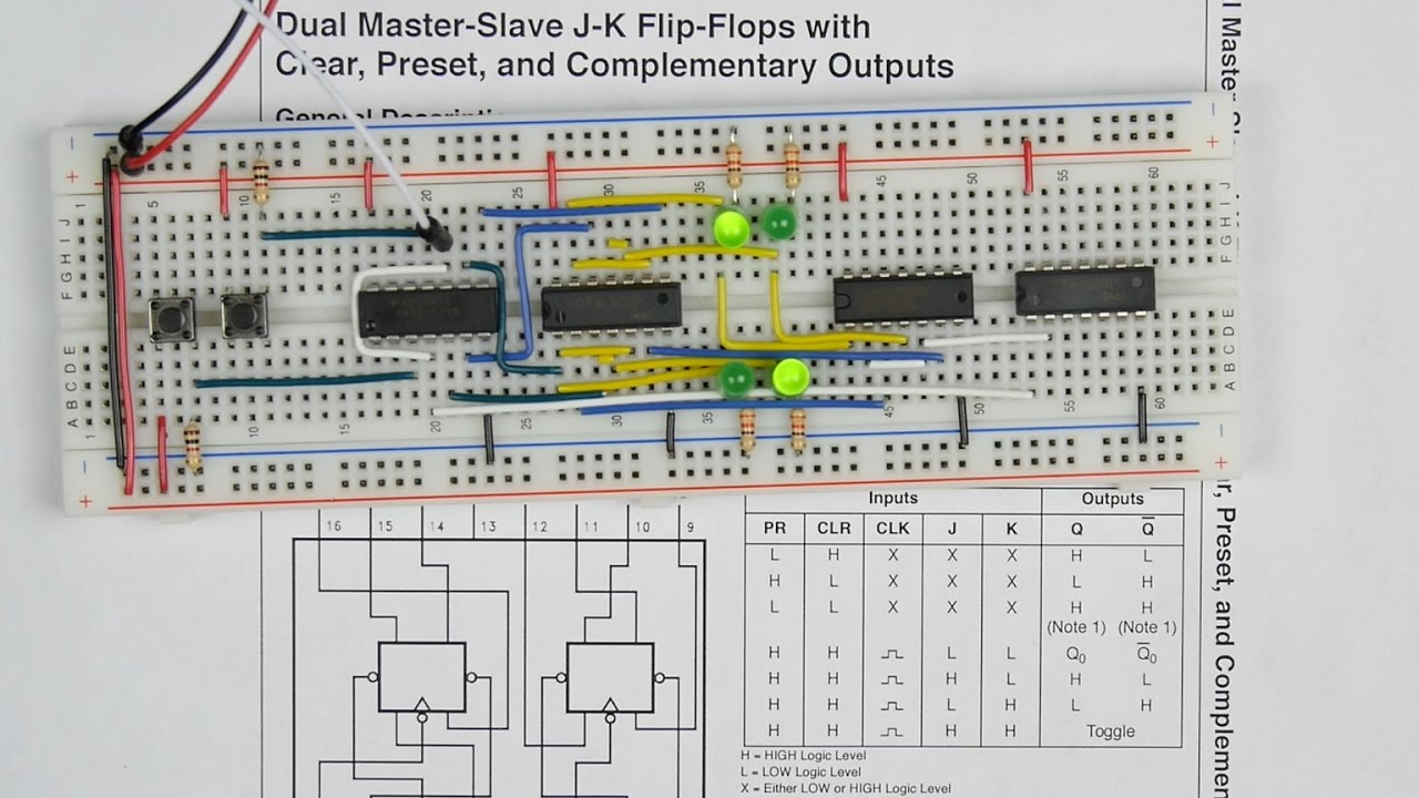 Logic Diagram Of Master Slave D Flip Flop Using Nand Gates Trusted Jk Youtube