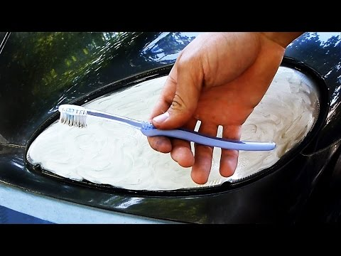 Headlight Restoration using Toothpaste