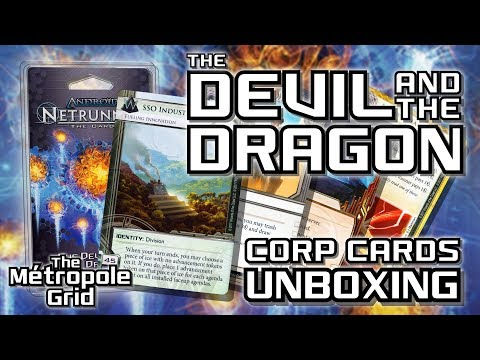 Netrunner Unboxing: The Devil and the Dragon - Corporation Cards