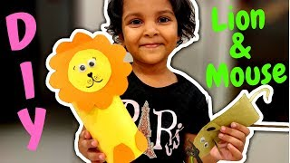 DIY Paper Lion and Mouse | Lion and Mouse Story By 3 Years Old