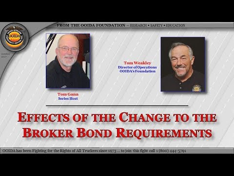 Change to Broker Bond Requirements