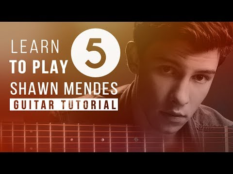 ULTIMATE TOP 5 Shawn Mendes Songs | Beginners Guitar Tutorial | Melody Free Tabs & Chords
