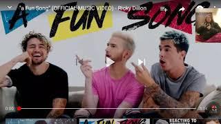 Reacting to Ricky Dillon A Fun Song