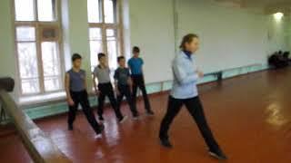 фрагмент урока по гимнастике в 5 классе