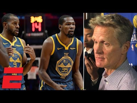 Steve Kerr on Steph Curry's absence, Warriors' loss vs. Clippers | NBA Sound