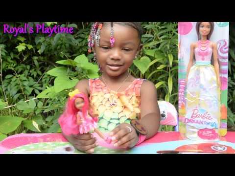 Barbie Dreamtopia New Toy Unboxing- Mom & Daughter Barbie Pink Hair - Chelsea Doll Kid Videos