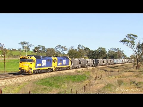 Trains on the Southern Main & Canberra line ( New South Wales, Australia )