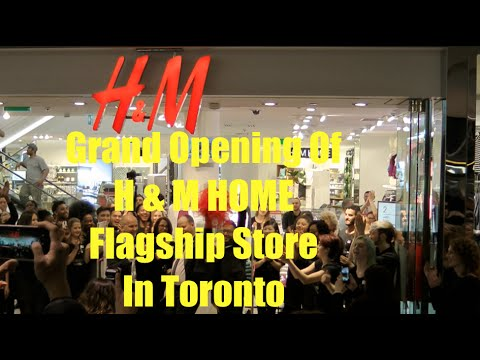 h m home opens flagship store in toronto youtube. Black Bedroom Furniture Sets. Home Design Ideas