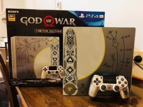Playstation 4 Pro 1tb God Of War Limited Edition Console Unboxing