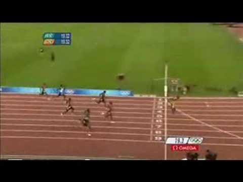 Beijing 2008 Usain Bolt 19.30 Shatters 200m World Record ...