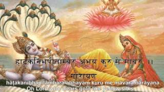 Narayana Stotram by Shankaracharya with sanskrit lyrics and english meaning sung by Mohani Heitel