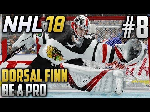 NHL 18 Be a Pro | Dorsal Finn (Goalie) | EP8 | FIRST CAREER SHUTOUT?