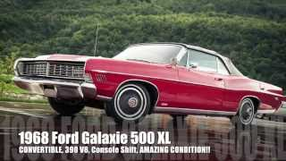 1968 Ford Galaxie 500 XL Convertible - 390 V8, AMAZING Condition Inside & Out!