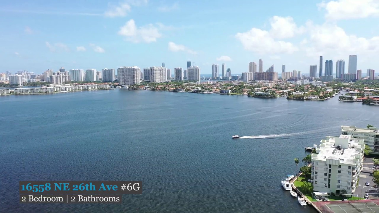Enjoy Direct Water Views And Dock Your Boat Steps Away - 16559 NE 26th Ave 6G North Miami Beach