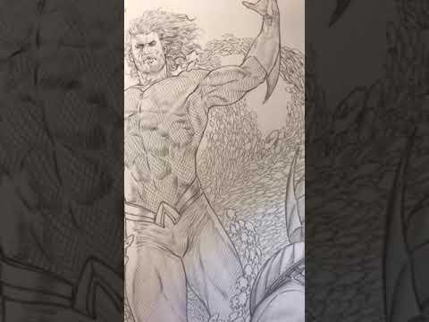 Aquaman splash page by Riccardo Federici