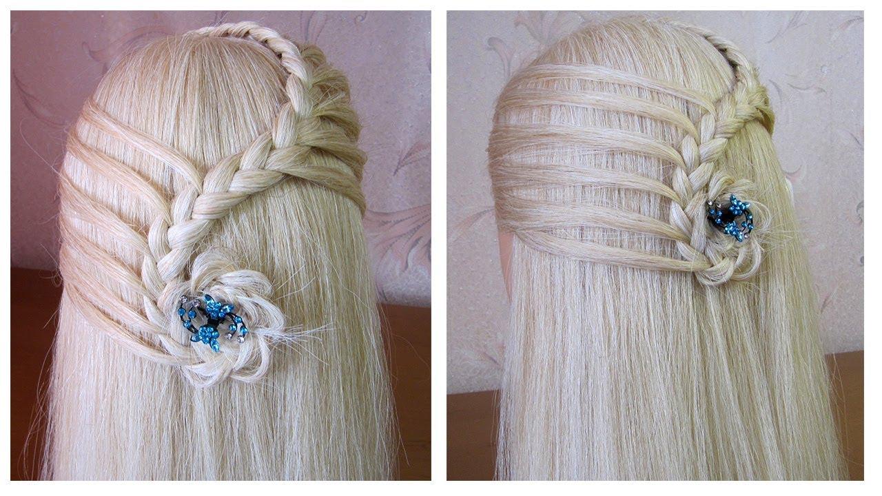 Coiffure simple rapide et jolie 🌼 cheveux mi long/long 🌼 facile à faire 🌼 Easy braided ...