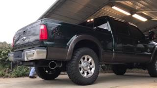 2016 f 250 6 7 powerstroke 5 flo pro exhaust no muffler ezlynk tuner no limit cold air intake
