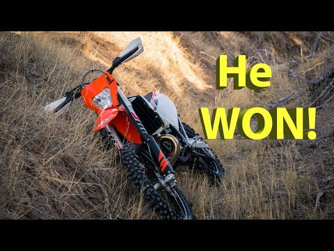 He Won the 2018 KTM 250 XC-W TPI!!!  Listen to the winning phone call!
