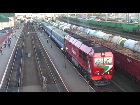 ТЭП70БС-083 с поездом 78 Гродно-Москва, ст. Лида