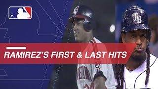 A look at Manny Ramirez's first and last career hits