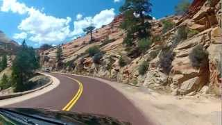 Zion Nationalpark - Scenic Drive, Utah - Full Ride - Onboard Front View