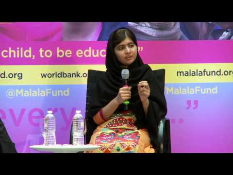Malala Yousafzai, the Girl Who Survived a Taliban attack, Speaks w/ Jim Kim about Girls' Education